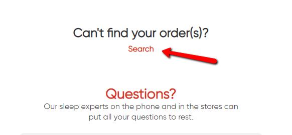 Customer portal search orders screen shot