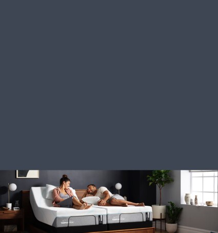 couple on tempur-pedic bed