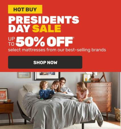 Presidents Day Sale- Hot Buys