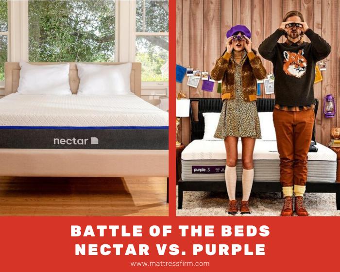 battle of the beds nectar vs purple mattress