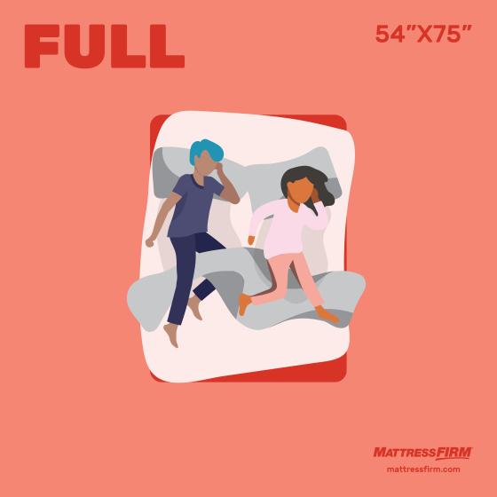 """full size mattress is 54""""x75"""""""