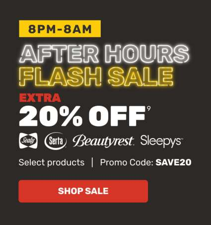 After Hours Sale - Extra 20% OFF