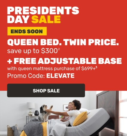 Presidents Day Sale - Queen Bed Twin Price - Ends Soon