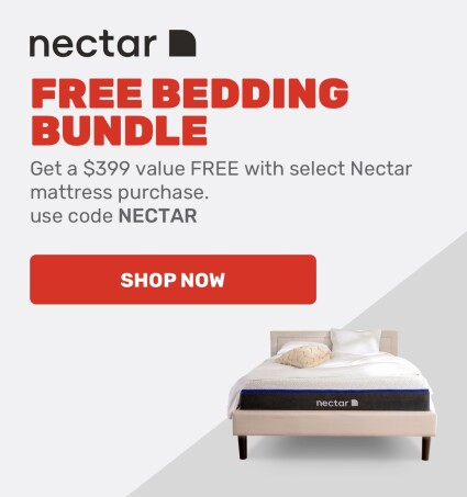 Free bedding bundle with select Nectar mattress purchase.