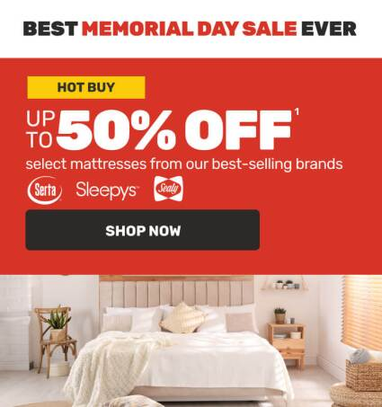 Best Memorial Day Sale Ever - Up to 50% off Hot Buys