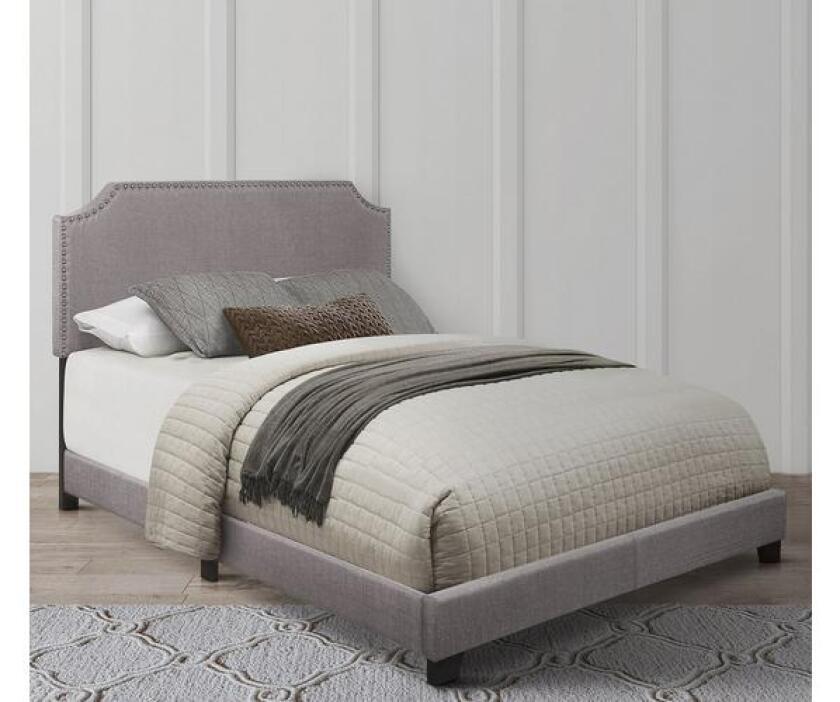 homeelegance francis upholstered bed frame set