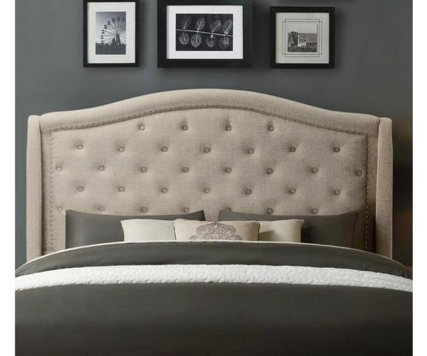 sleepy's mackenzie upholstered headboard