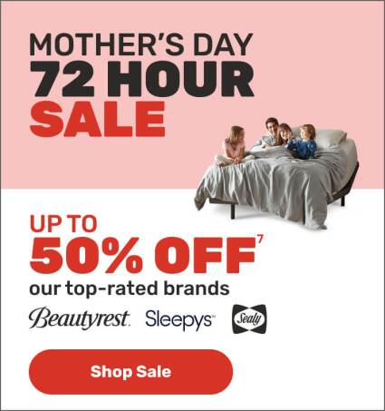 Mothers Day 72 Hour Sale - Up to 50% OFF