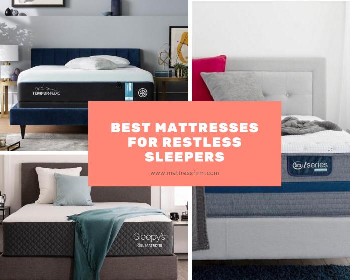 best mattresses for restless sleepers