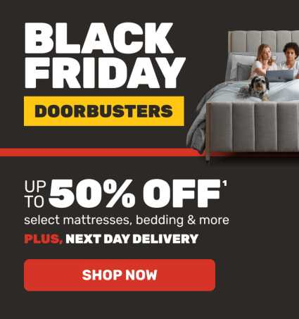 Black Friday Sale Doorbusters + Next Day Delivery. Shop Now