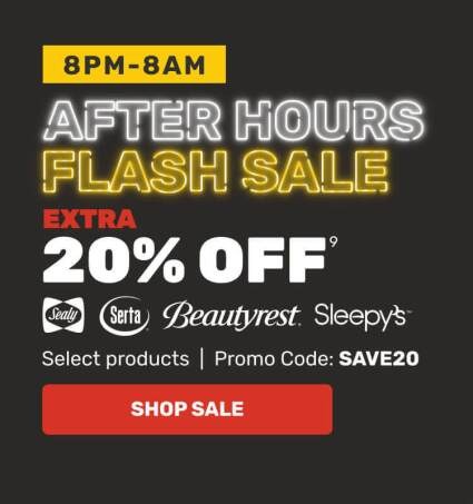 After Hours Flash Sale - Extra 20% OFF